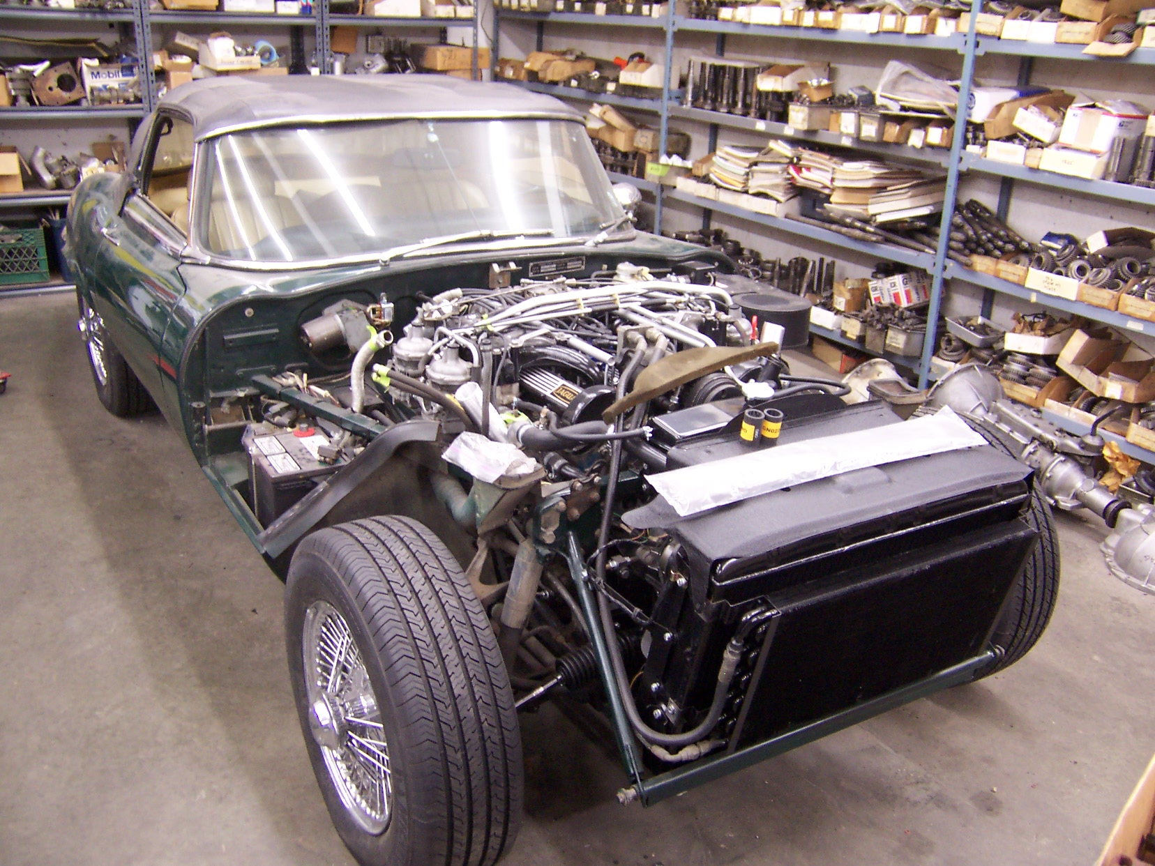 for garages sale classicargarage engine smiths to welcome type e roadster jaguar sold